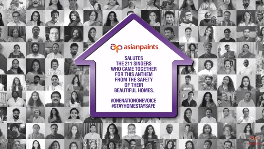 Asian Paints Shows Support for PM Cares Fund, as a Main Sponsor for Anthem 'One Nation One Voice' Dedicated to Corona Warriors