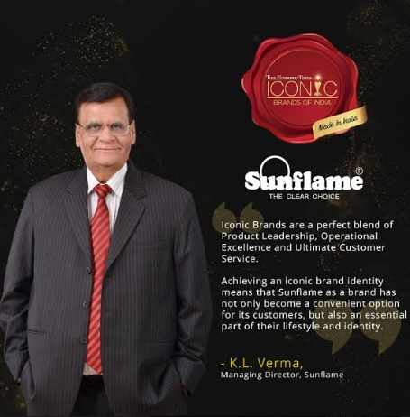 Sunflame Honoured to be Recognised as 'ET Iconic Brand of India 2020' 63